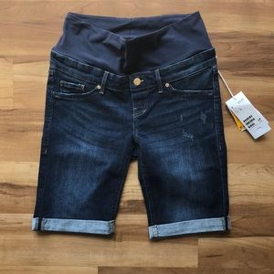 H&M Mama Maternity Denim Shorts Bermuda Long Short